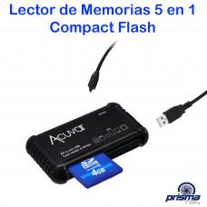 Multi Lector de Memoria Compact Flash, SD 5 en 1