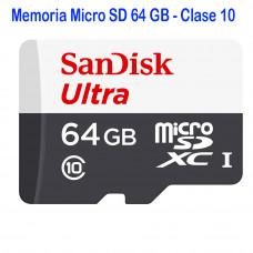 Memoria Micro SD 64 Gigas Calse 10